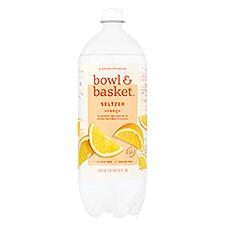 Bowl & Basket Orange Seltzer, 33.8 Fluid ounce