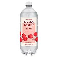 Bowl & Basket Seltzer Raspberry, 33.8 Fluid ounce