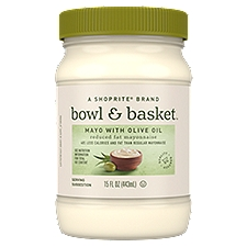 Bowl & Basket Mayonnaise Reduced Fat with Olive Oil, 15 Fluid ounce