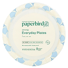 Paperbird Plates 8.62 Inch Decorated Strong Everyday, 45 Each
