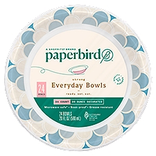 Paperbird Bowls 20 Ounce Decorated Strong Everyday, 24 Each