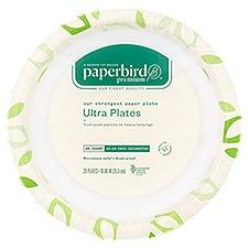 Paperbird Premium Plates 10.06 Inch Decorated Ultra, 20 Each