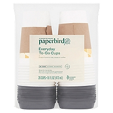 Paperbird Cups 16 Ounce Decorated Everyday To-Go, 20 Each