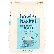 Bowl & Basket Flour, Pre-Sifted Bleached Enriched All Purpose, 5 Pound