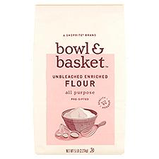 Bowl & Basket Flour Pre-Sifted Unbleached Enriched All Purpose, 5 Each