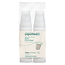 Paperbird Cups 16 Ounce Translucent Cold Drink, 160 Each