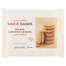 Bowl & Basket Sandwich Cookies Creme Filled Golden, 14.3 Ounce