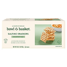 Bowl & Basket Crackers Unsalted Tops Saltine, 1 Each