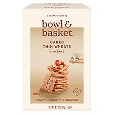 Bowl & Basket Crackers Baked Thin Wheats, 9.1 Ounce