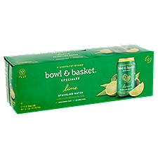 Bowl & Basket Specialty Sparkling Water Lime, 144 Fluid ounce