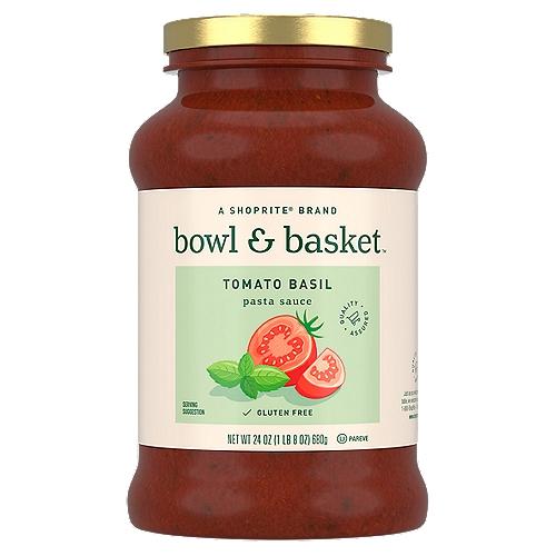 Bowl & Basket Tomato Basil Pasta Sauce, 24 oz