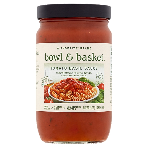 Bowl & Basket Tomato Basil Sauce, 24 oz