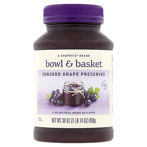 Bowl & Basket Concord Grape Preserves, 30 oz