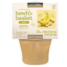 Bowl & Basket Baby Food Banana Fruit Cup 6+ Months, 4 Ounce