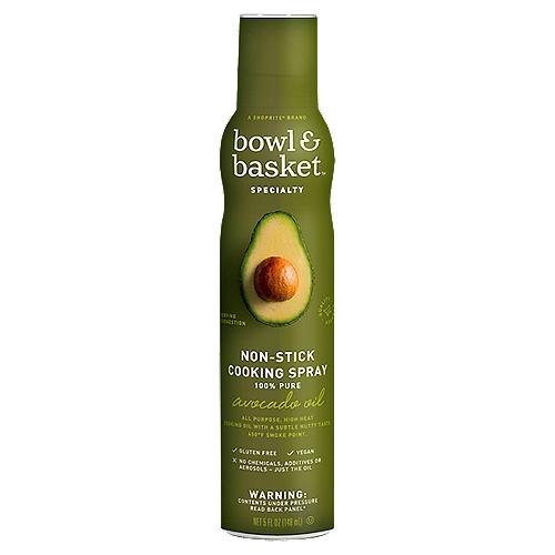 Bowl & Basket Specialty 100% Pure Avocado Oil Non-Stick Cooking Spray, 5 fl oz