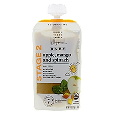 Wholesome Pantry Organic Baby Food, Apple Mango and Spinach Stage 2 6+ Months, 4 Ounce