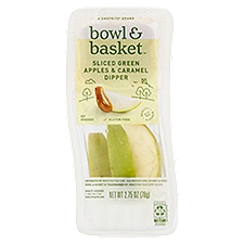 Bowl & Basket Sliced Green Apples & Caramel Dipper, 2.75 Ounce