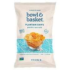 Bowl & Basket Plantain Chips, Pacific Sea Salt, 5 Ounce