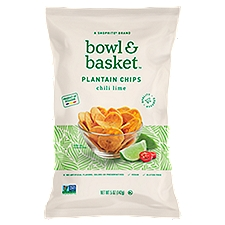 Bowl & Basket Plantain Chips, Chili Lime, 5 Ounce