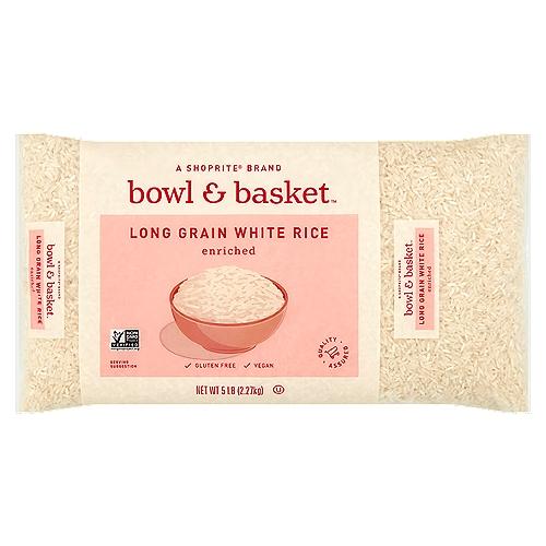 Bowl & Basket Enriched Long Grain White Rice, 5 lb