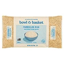 Bowl & Basket Parboiled Rice, Enriched Long Grain, 5 Pound