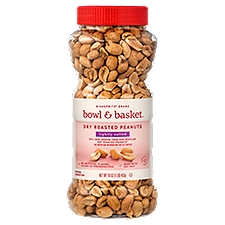 Bowl & Basket Peanuts, Lightly Salted Dry Roasted, 16 Ounce