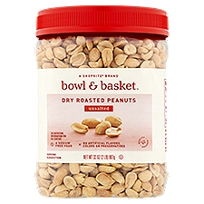 Bowl & Basket Peanuts Unsalted Dry Roasted, 32 Ounce