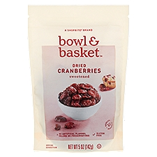 Bowl & Basket Dried Cranberries Sweetened, 5 Ounce