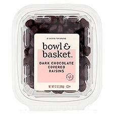 Bowl & Basket Raisins, Dark Chocolate Covered, 12 Ounce