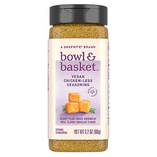 Bowl & Basket Vegan Chicken-Less Seasoning, 3.2 oz