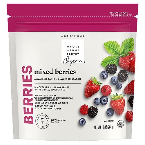 Blackberries, raspberries and blueberries