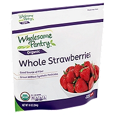 Wholesome Pantry Organic Whole Strawberries, 10 Ounce