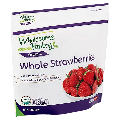 Good source of fiber, excellent source of vitamin C grown without synthetic pesticides