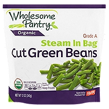 Wholesome Pantry Steam In Bag Cut Green Beans, 12 Ounce