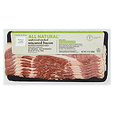 Wholesome Pantry Applewood Uncured Bacon, 12 Ounce
