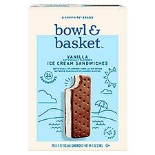 Bowl & Basket Ice Cream Sandwiches Vanilla, 84 Fluid ounce