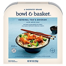 Bowl & Basket General Tso's Chicken with White Rice, 9 Ounce