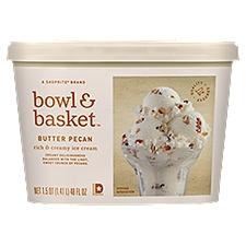 Bowl & Basket Ice Cream Butter Pecan Rich & Creamy, 1.5 Quart