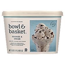 Bowl & Basket Ice Cream Cookies & Cream, 1.5 Ounce