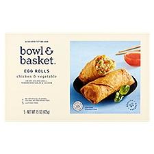 Bowl & Basket Egg Rolls, Chicken & Vegetable, 15 Ounce