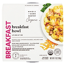 Wholesome Pantry Organic Breakfast Bowl, Potato, Egg, Chicken Sausage, Uncured Ham and Cheese, 7 Ounce
