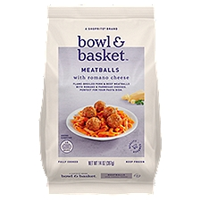 Bowl & Basket Meatballs, Romano Cheese, 14 Ounce