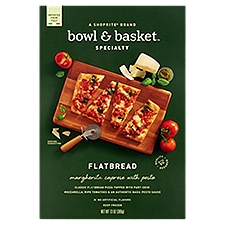Bowl & Basket Specialty Flatbread Margherita Caprese with Pesto, 13 Ounce