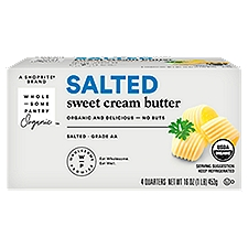 Wholesome Pantry Organic Sweet Cream Salted Butter, 16 Ounce