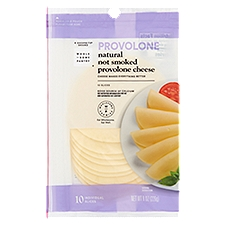 Wholesome Pantry Cheese, Sliced Natural Provolone, 8 Ounce