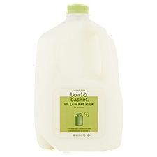 Bowl & Basket Milk Low Fat, 1%, 1 Gallon