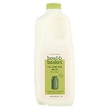 Bowl & Basket Milk Low Fat, 1%, 0.5 Gallon