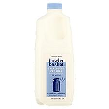 Bowl & Basket Milk Reduced Fat, 2%, 0.5 Gallon