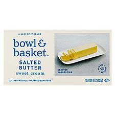 Bowl & Basket Butter Sweet Cream Salted, 4 Each