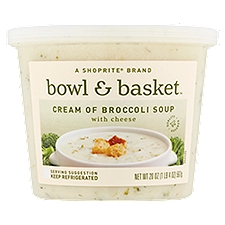 Bowl & Basket Soup Cream of Broccoli with Cheese, 20 Ounce